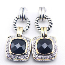 New Black Onyx 925 Sterling Silver Gemstone Earrings TE387