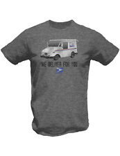 NEW NWT USPS Vintage Motto We Deliver For You Truck & Logo Gray T-Shirt