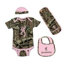 BROWNING BUCKMARK PINK MOSSY OAK INFINITY BABY INFANT SET - 4 PIECES