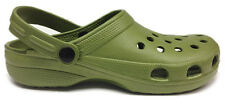 World of Clogs Adult Plastic Garden Shoes Beach Clogs in Khaki Green