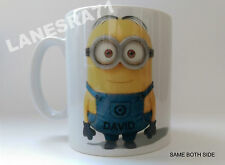 """MINION """" DAVE """" Dispicable Me , PERSONALISED White Coffee Mug"""
