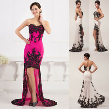 Noble Strapless High-Low Ball Gown Mother of the Bride Evening Prom Party Dress