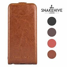 Snakehive ® genuine REAL LEATHER FLIP CASE COVER PER SONY XPERIA Z3