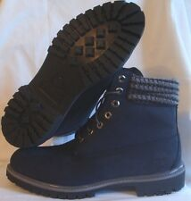 """Timberland 6612A Mens sizes Waterproof 6"""" Inch Navy Plaid Double Sole Boots"""