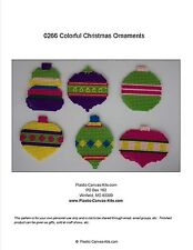 Colorful Christmas Ornaments-Christmas-Plastic Canvas Pattern or Kit