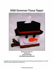 Snowman Tissue Topper-winter-Plastic Canvas Pattern or Kit