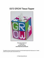 GROW Tissue Topper-flowers-Plastic Canvas Pattern or Kit