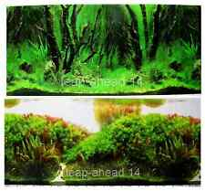 "20""tall (50cm)""FOREST/TREE"" 2 SIDED BACKGROUND AQUARIUM PICTURE FISH TANK DECOR"