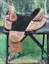 "TW105MRO HILASON TREELESS WESTERN TRAIL BARREL RACING SADDLE 14"" 15"" 16"" 17"" 18"""