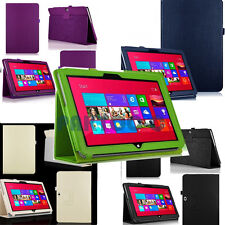 STAND FOLIO LEATHER CASE COVER HOLDER FOR Microsoft Surface 2 RT Windows 8 New