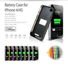 [Apple MFi Certified] iFans® 1800mAh iPhone 4s 4 Battery Charger Case on iOS8+