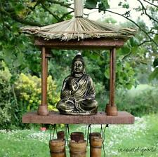 NEW Large Thai Buddha Wind Chime Wooden Bamboo Garden Feng Shui Ornament Mobile