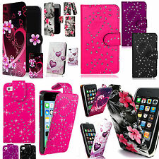 Patterned PU Leather Case Cover Wallet Flip for Various Mobile Phones + Stylus