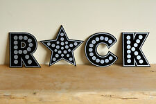 Industrial Decorative Light Metal Style Letters Wall Art Decals Wedding Initials