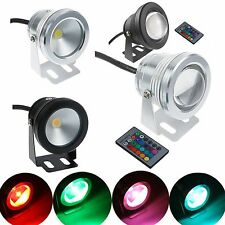 800-900LM RGB/Warm/Cool10W LED Underwater Spot Light 12V Garden Pool Pond Lamp