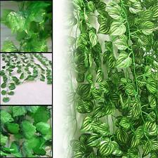 Artificial Hanging Ivy Vine Plant Silk Leaf Garland Home Garden Wedding Decor