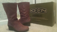 $160 NEW/NIB KEEN AKITA MID WOMEN LEATHER BOOT BROWN/MILES 9.5, 91/2, & 10
