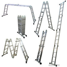 3.7 and 4.7 M Multi Purpose Aluminium Extension Ladder Step Tray