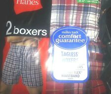 HANES® 2 PACK CLASSIC PLAID BOXERS