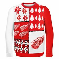 Detroit Red Wings Ugly Sweater - Busy Block - NEW NHL Christmas Holiday