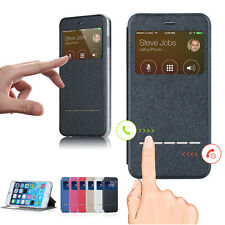 Smart Front Window View Flip Leather Case Cover for iPhone 6 7 8 plus X &Samsung