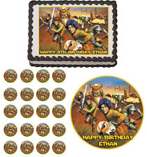 STAR WARS REBELS Edible Birthday Party Cake Cupcake Topper Decorations