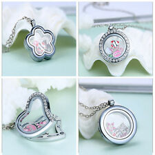 Living Memory Necklace Floating Charms Locket Pendant New Sale DIY Jewerly Gifts