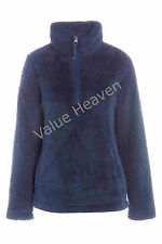 Marks & Spencer Fleece Cardigans Ladies Jacket Navy Blue 8 10 12 14 16 18 20 22