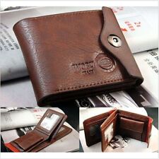 Fashion New Leather Bifold Credit/ID Cards Coin Pocket Bag Purse Wallet
