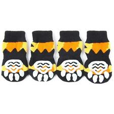 4PCS/Set Pet Dogs Soft Cotton Sock Anti-Slip Bottom Knit Warm Boots Apparels M86