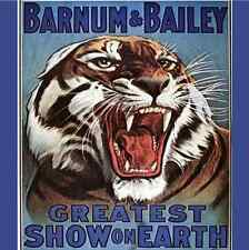 6 BARNUM & BAILEY CIRCUS TIGER GIFT TAGS Party Supplies Gift Wrapping Supplies