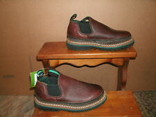 Boy's Youth Size Brown Leather John Deere Romeo Slip on Shoe