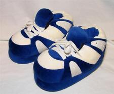 Happy Feet Slippers Blue & White Adult Sizes Thick Warm & Cozy New