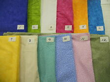 CALICO 100% cotton fabric tiny vines tiny hearts brights pastels group 2
