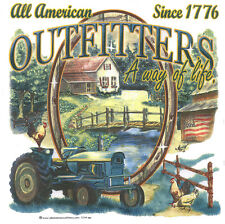 ALL AMERICAN OUTFITTERS,John Deere Tractor, Barn, Chickens, New T-Shirt