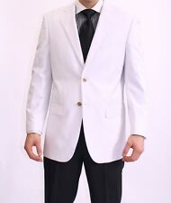 White  Blazer Jackets for Men, 2 button, vents, lined ,gorgeous. Gold ITALIAN