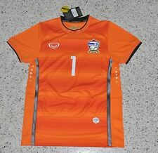 Thailand National Teams Football Soccer Jersey Kits KAWIN GK 2014-15 Orange