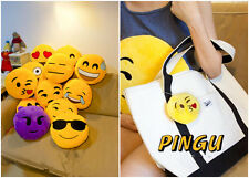 Hot Toy Emoji Smiley Emoticon Yellow Round Cushion Pillow Stuffed Plush Soft