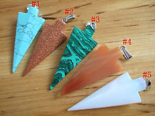 1pcs High Quality Arrow Shaped Amulet Natural Stone Charms Pendant  64*26mm