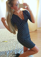 Fashion Women Bandage Bodycon Short Sleeve Evening Party Cocktail Clothes Dress