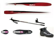 NEW ALPINA SOLUTION XC cross country NNN SKIS & BINDINGS & BOOTS & POLES - 195cm
