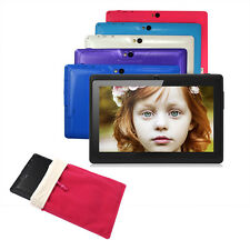 "7"" Quad Core Kids Gift Tablet PC 8GB Google Android 4.4 WiFi Dual Camera + Bag"