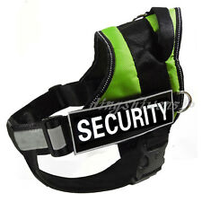 Green Service Dog Harness Vest Removable Chest Plate Harness Velcro 2 Patches