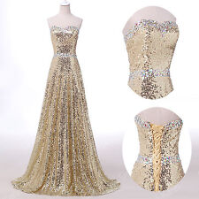 2015 Sexy Sequins Long Prom Dresses Formal Evening Party dress Ball Gown Custom