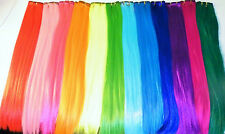 "10 PIECE SYNTHETIC CLIP IN HAIR STREAK 22"" LONG - 12 COLOURS TO CHOOSE FROM"