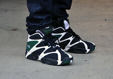 Reebok Kamikaze I Mid Men's Shoes OG WHITE/BLACK/GREEN V60362 Shawn Kemp NEW!
