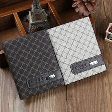 New Stylish Men's Leather Bifold Cards Holder Long Wallet Billfold Suit Purse