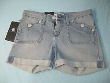 "NWT Rock & RepublicBlue Denim Women's Stinger Shorts  "" Ocean Water """