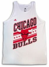 CHICAGO BULLS NBA WHITE ADIDAS SUPERSTAR ADULT TANK-TOP  SLEEVELESS T-SHIRT NWT