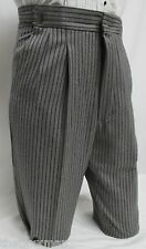 27-28-29 Mens Gray Hickory Striped Morning Trousers Victorian Dickens Tux Pants